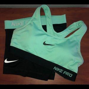 Women's Nike Spandex and Bra bundle
